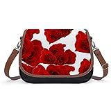 Bolso vintage de las mujeres de Rose Flower Bolso, bolso de hombro retro, bolso de las axilas