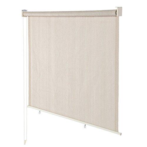 Derstadt Roller Shade Window Blind Roller Sun Shade Roll Up Curtain Sun Blackout Exterior Sunscreen Chain Darkening New, (180gsm HDPE, 95% UV protection, 6X6ft,Monetery
