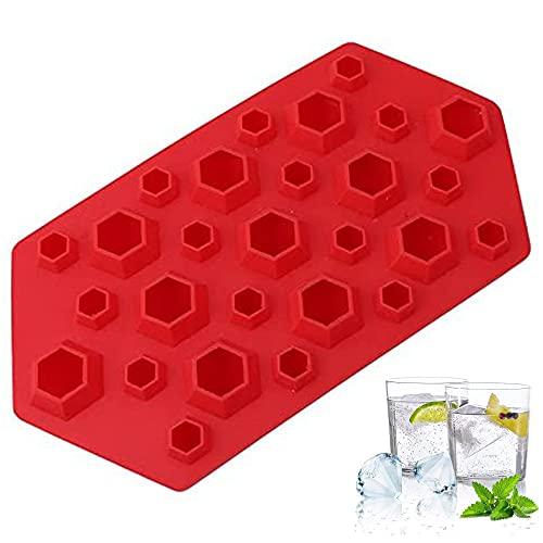 Stampo Ghiaccio Stampo Cubetti Ghiaccio Cubetto di ghiaccio diamante Stampo per Ghiaccio Vassoi per Cubetti di Ghiaccio in Silicone deale per Whisky, Cocktail e Vino, Impilabile e Senza BPA