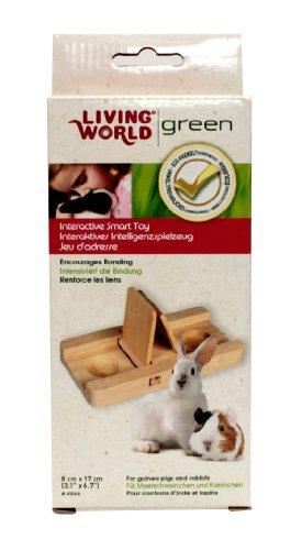Living World Green interaktives Intelligenzspielzeug -Schiebespiel- für Meerschweinchen und Kaninchen