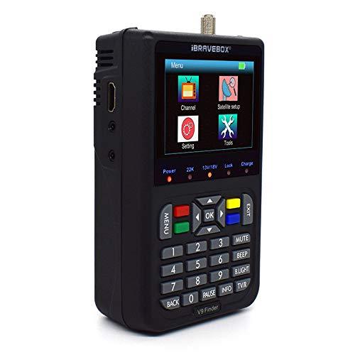 Localizador de Señal Satélites digital compatible con DVB-S   S2 y H.265, ETE ETMAT Medidor buscador de satélite V9 con pantalla LCD de 3,5 pulgadas, batería de 3000 mAh para TV Señal Find.
