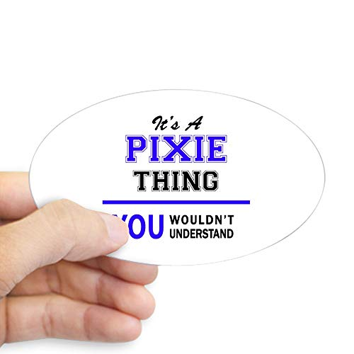 CafePress It???S PIXIE Thing, You Wouldn't Understand Sticker Oval Bumper Sticker Car Decal