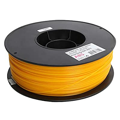 Inland 1.75mm Yellow ABS 3D Printer Filament - 1kg Spool (2.2 lbs)