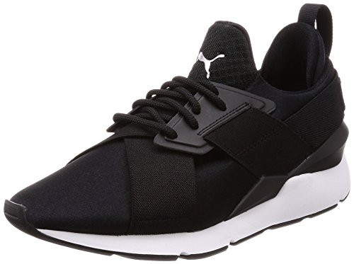 PUMA Damen Muse Satin EP WN's Sneakers, Black White, 37 EU