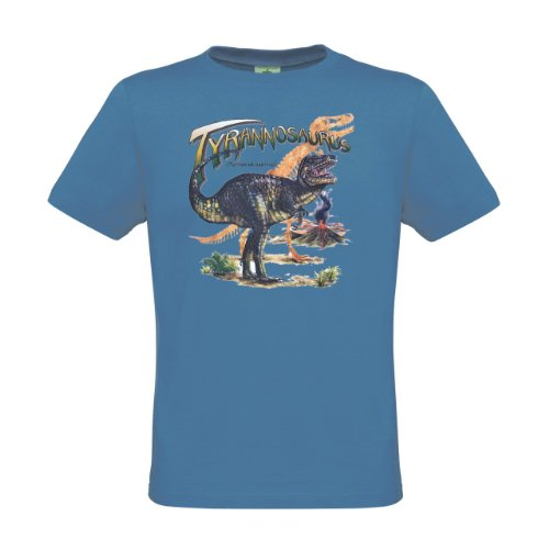 Ethno Designs Kinder T-Shirt Tyrannosaurus Rex Regular fit, Größe 122/128, Azure
