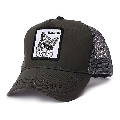 sdssup Gorra de béisbol Summer Wild Cock Mesh Cap Gorra Bordada Silver-Fox...