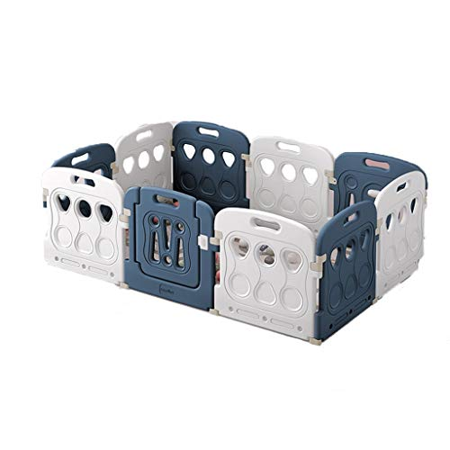 For Sale! Hfyg Play Pen Baby Playpen Rectangle Blue White Color Baby Toddler Protection Fence Suitab...