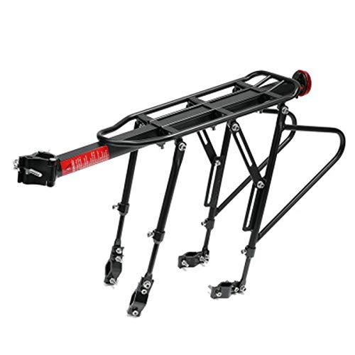 Portaequipajes para Bicicletas Posterior de la bicicleta portaequipajes equipaje de la bici por carretera estante de ciclo del asiento del sostenedor del estante 50 kg Capacidad para Bicicleta de Carr