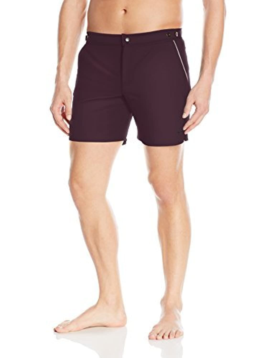 parke & ronen Men's Angeleno Stretch Swim Trunk Aubergine/Grey 32 [並行輸入品]