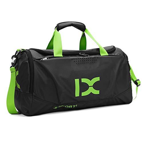BAIGIO Borsone Palestra Borsa Sportiva con Scomparto per Scarpe Borsone per la Piscina Borsa da Viaggio Duffel Bag Uomo Tote Grande Impermeable (Verde)