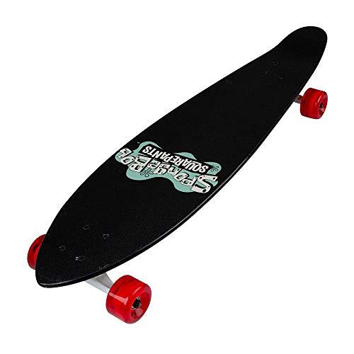 Kryptonics Spongebob 36' Longboard Complete Skateboard - Stretch, Yellow, Model Number: 169950