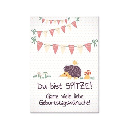 Sheepworld, Gruss & Co - 77362 - Postkarte, Tierisch liebe Grüsse Nr. 28, Du bist spitze! Ganz viele Geburtstagswünsche!