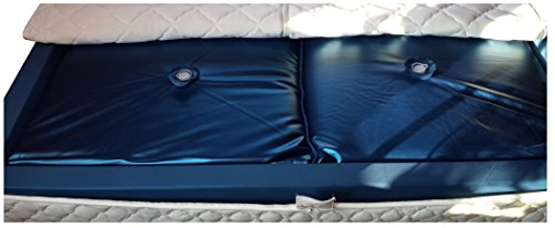 Mesamoll2 - Colchón de agua Softside de 90 x 210 cm para camas de agua dobles de 180 x 210 cm, borde exterior, núcleo de cama de agua prémium Softside (F6, 100% tranquilidad)