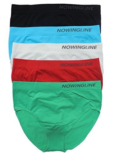 Nowingline 5 Stück Damen Slips Größe 38-64 (58)