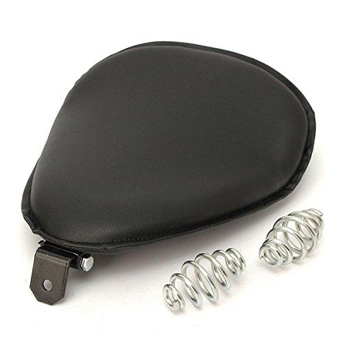 GOZAR Solo stoel ronde vorm met beugel Mount lente voor Harley Chopper Bobber Sportster
