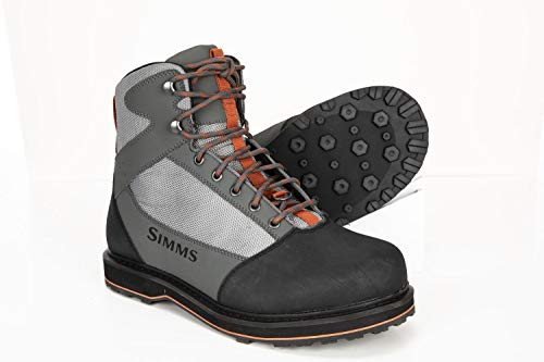 Simms Tributary Rubber Sole Wading Boots Adult, Rubber Bottom Fishing...
