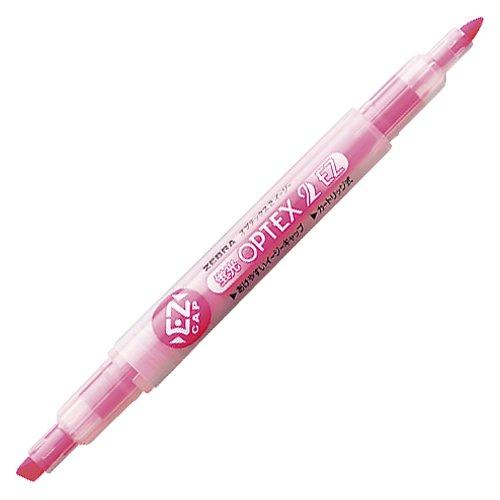 ゼブラ 蛍光オプテックス2-EZ インク色:ピンク 2個セット