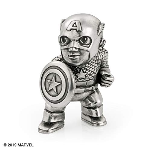 Royal Selangor Hand Finished Marvel Collection Pewter Captain America Miniature Figurine Gift