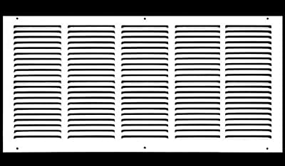 """24""""w X 12""""h Steel Return Air Grilles - Sidewall and Ceiling - HVAC Duct Cover - [Outer Dimensions: 25.75""""w X 13.75""""h]"""
