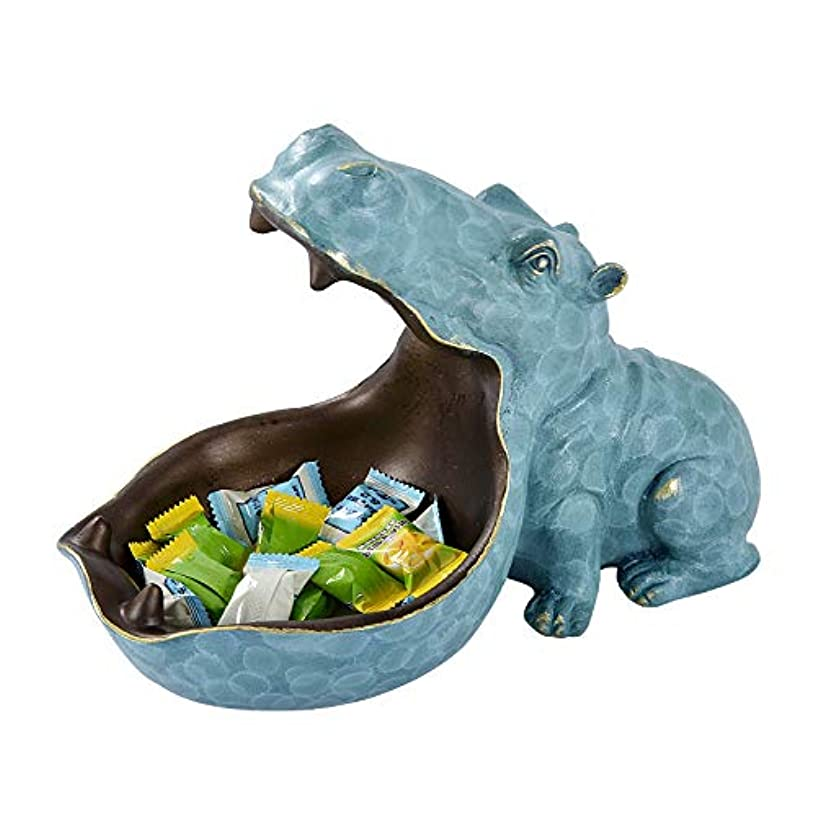 AAA&LIU Abstract Hippopotamus Statue with Storage Funcion Resin Sculpture Ornament for Desk Home Decor Decoration Accessories
