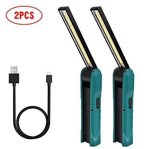 Guiseapue Lampada da Lavoro a LED COB Lampade di Ispezione USB Ricaricabile LED da lavoro Pieghevole Torcia con magnetica clip e gancio Lampada portatile per Auto/Campeggio/Home e di emergenza uso