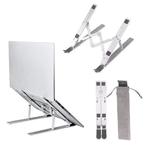 LXSTARS Soporte de aleación de Aluminio Soporte para computadora portátil Soporte portátil Soporte Plegable Ajustable Soporte para Tableta para computadora portátil, Tableta, teléfono móvil
