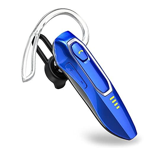 Auricolare Bluetooth Cuffia Bluetooth V5.0 con microfono, soppressione dei rumori vocali HD, talking 30 Hrs e 15 giorni di standby, Auricolari Bluetooth Singolo senza mani e senza fili