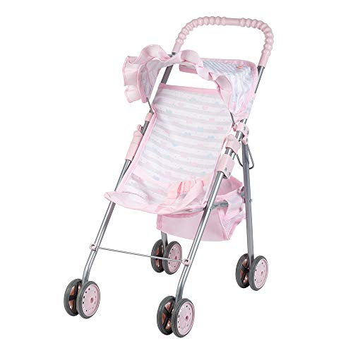 Adora Baby Doll Stroller Soft Pink Medium Shade Umbrella Stroller, Can Fit Up to 20 inch Dolls and Stuffed Animals