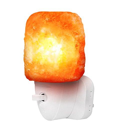 Betus [Natural Crystal Himalayan Salz Wandlampe - Luftreinigendes Nachtlicht - 360 ° drehbarer Stecker 15W Birne - Natural