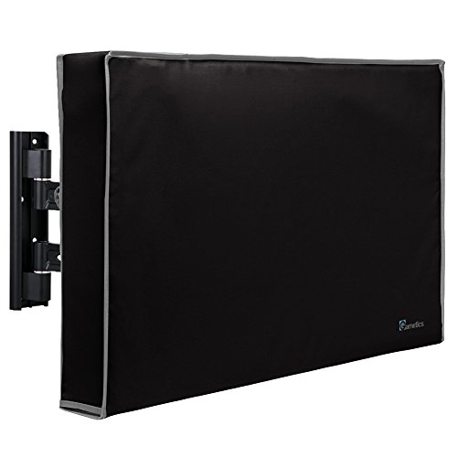 Outdoor TV Cover 60'-65' inch - Universal Weatherproof Protector for Flat Screen TVs - Fits Most TV Mounts and Stands - Black