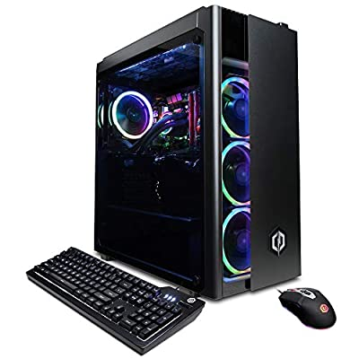 CyberpowerPC Gamer Xtreme VR Gaming PC, Liquid Cool Intel Core i7-10700K 3.8GHz, 16GB DDR4, NVIDIA GeForce RTX 2080 Super 8GB, 500GB PCI-E NVMe SSD, 2TB HDD, WiFi Ready & Win 10 Home (GXiVR8080A9)