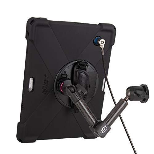 The Joy Factory MagConnect Carbon Fiber Wall/Counter Mount w/aXtion Bold MP Water-Resistant Rugged Security Case for Surface Pro 7 | Pro 6 | Pro 5 | Pro 4, Built-in Screen Protector (MWM3004MPS)