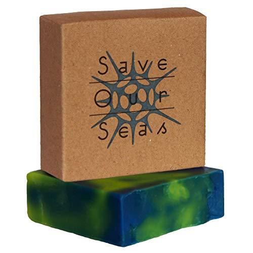 Red onze zeeën handgemaakte kruidenzeep | Palm-olie gratis! | Plastic vrije verpakking