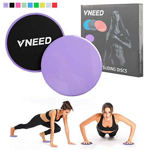 【2020 Update】 Core Exercise Sliders (Set of 2), Smooth Gliders Dual-Sided Design, Use on Hardwood Floors, Workout Sliders Fitness Discs Abdominal & Total Body Gym-Exercise Equipment for Home, Travel 1