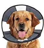 ZenPet Pet Recovery Cone E-Collar for Dogs and Cats - Always Use with Your Pet's Everyday Collar - Comfortable Soft Collar is Adjustable for a Secure and Custom Fit (X-Large)
