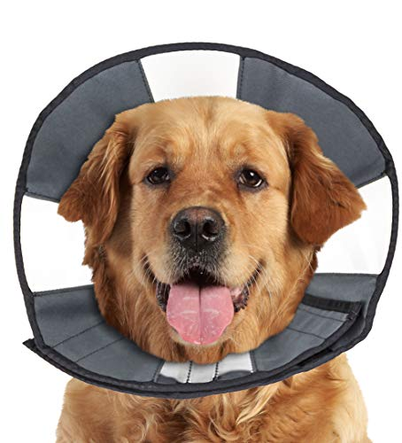 ZenPet Soft Recovery Dog & Cat Collar - Soft Pet Cone Does Not Block Vision E-Collar - Designed to Prevent Pets from Touching Stiches, Wounds and Rashes (X-Large)