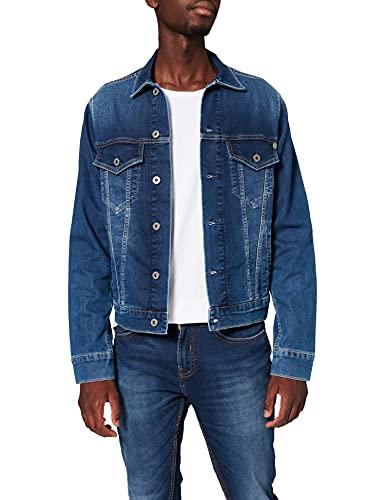 Pepe Jeans Pinner PM400908 Chaqueta Vaquera, Azul (Gymdigo Medium Used Denim Gt1), XX-Large para Hombre