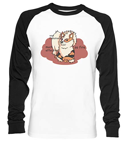Arcedoge Unisex Camiseta De Béisbol Manga Larga Hombre Mujer Blanca Negra
