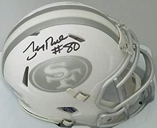 49Ers Hall Of Famer Jerry Rice Autographed Signed Ice Mini Helmet Auto - Sb Mvp - Beckett