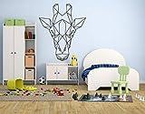 Pegatinas De Pared Cuadradas Con Patrón De Animales De Origami Geométrico Para Sala De Estar Calcomanías De Vinilo Dormitorio Art Deco Mural 42 * 62Cm
