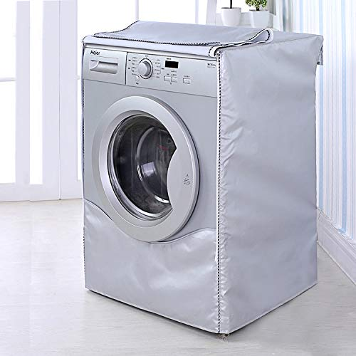 Queta Waschmaschinendeckel, Waschmaschinentrocknerdeckel, 85 × 60 × 57 cm, mit Reißverschluss, wasserdicht, staubdicht, UV-beständig, alterungsbeständig