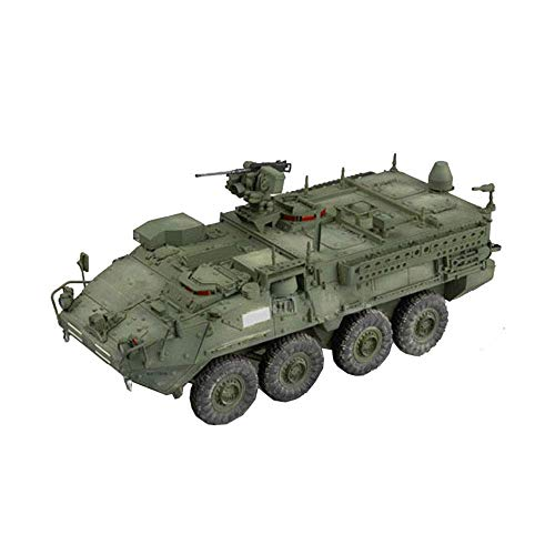 XHH Kits de Modelos de Rompecabezas de Tanques Militares, Escala 1/35 EE. UU. Stryker, Juguetes de Modelo de Rompecabezas de Coche de Comando blindado con Ruedas (sin Pegamento)