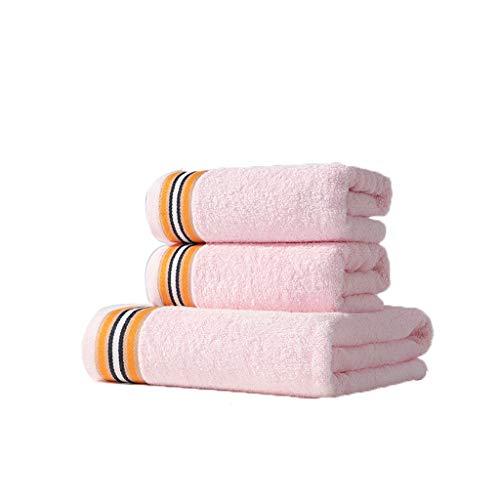 Nff Conjunto De Toallas De Baño, Algodón Puro Súper Absorbente Y Toalla De Baño Grande Sin Restricciones, Conjunto De Toallas De Baño Súper Suave Y De Secado Rápido (Color : Pink)