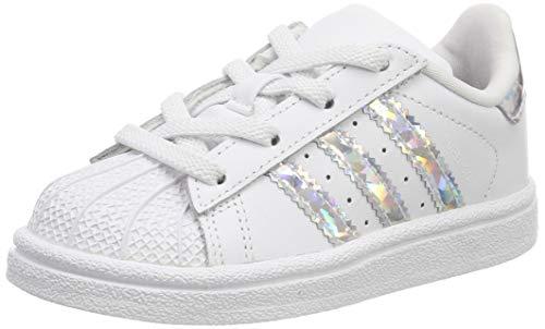 adidas Superstar El I, Scarpe da Ginnastica Unisex-Bambini, Ftwr White/Ftwr White/Ftwr White, 24 EU