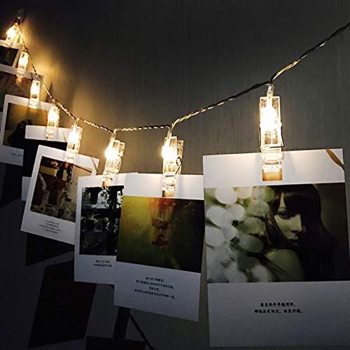 ZMY String Lights Photo Wall Clip Ins Small Lantern Decoration Lights LED Clip Patio Lights Battery Christmas String Light