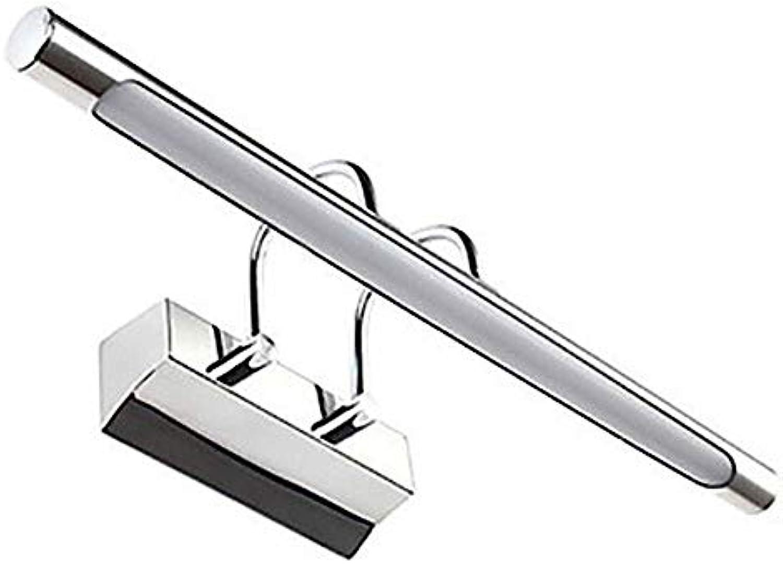 ETH Langer Streifen Zylindrische PVC-Edelstahl LED Spiegel Licht Acryl 7W Badezimmer Wandleuchte Make-up Lampe Hell