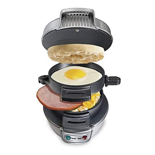 Nrpfell Electric Egg Sandwich Maker Grill Pancake Panini Baking Plates Toaster Multifunction Non-Stick Hamburger Breakfast Machine UK Plug