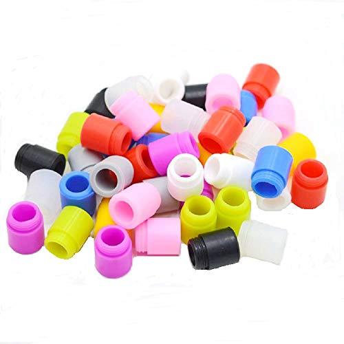 Probador de punta de goteo de silicona 810 sellado individualmente - Paquete de 100 colores de mezcla