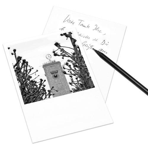10er-Set Postkarte Stuttgart im Polaroid-Look - DIN A6 Hochformat - Motiv: Königsstraße