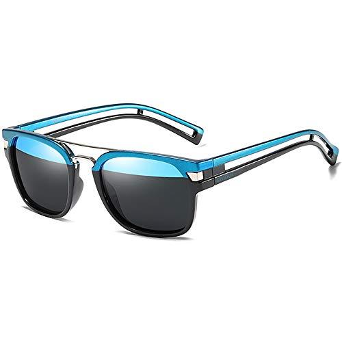 SHEEN KELLY Gafas de sol cuadradas polarizadas para hombres Mujeres Gafas de sol retro de aviador Gafas de sol Tony stark Gafas de sol uv400 Gafas de sol Neymar
